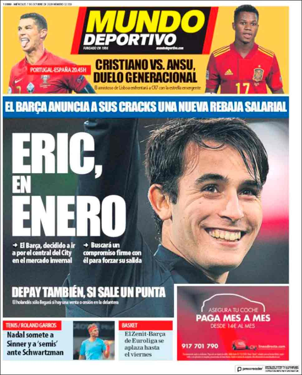 Portada Sport Eric García enero
