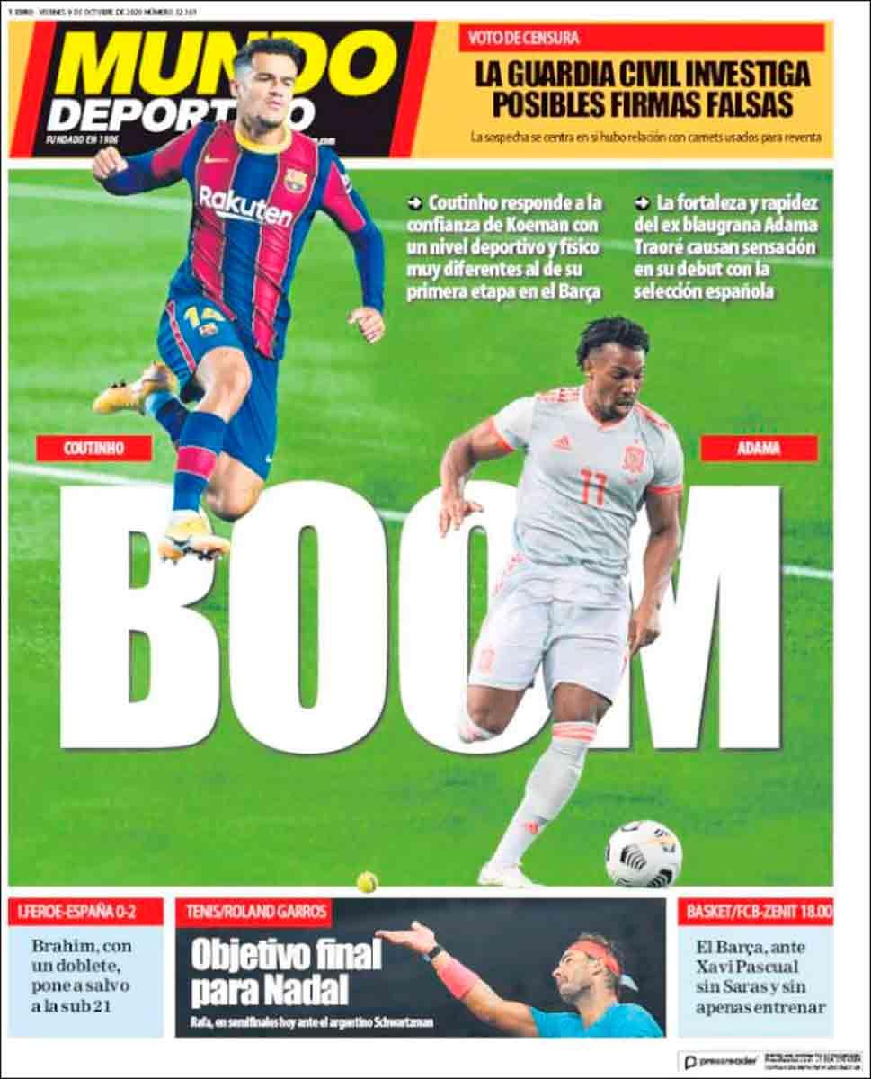 Portada Mundo Deportivo Adama
