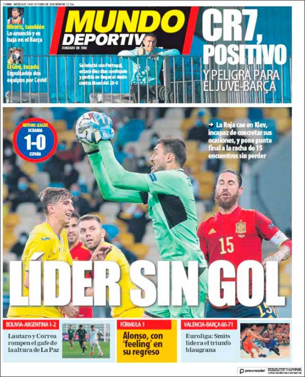 Portada Mundo Deportivo derrota selección