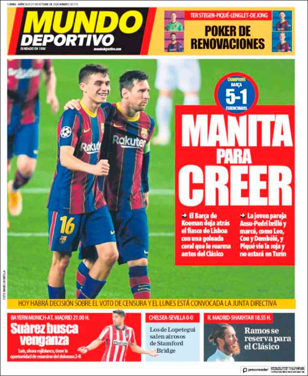 Portada Mundo Deportivo manita