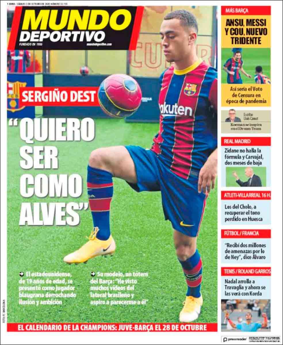 Portada Mundo Deportivo Dest Alves