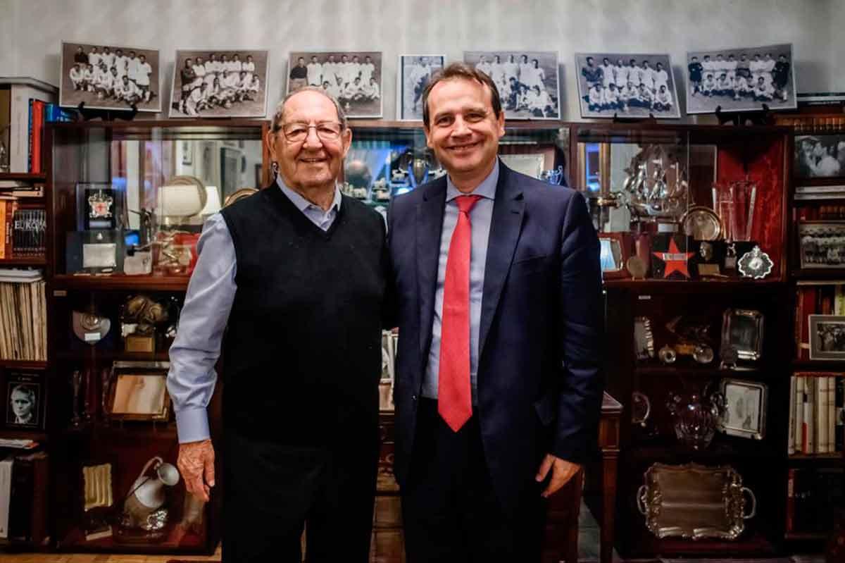 Don Paco Gento y Emilio Dumas