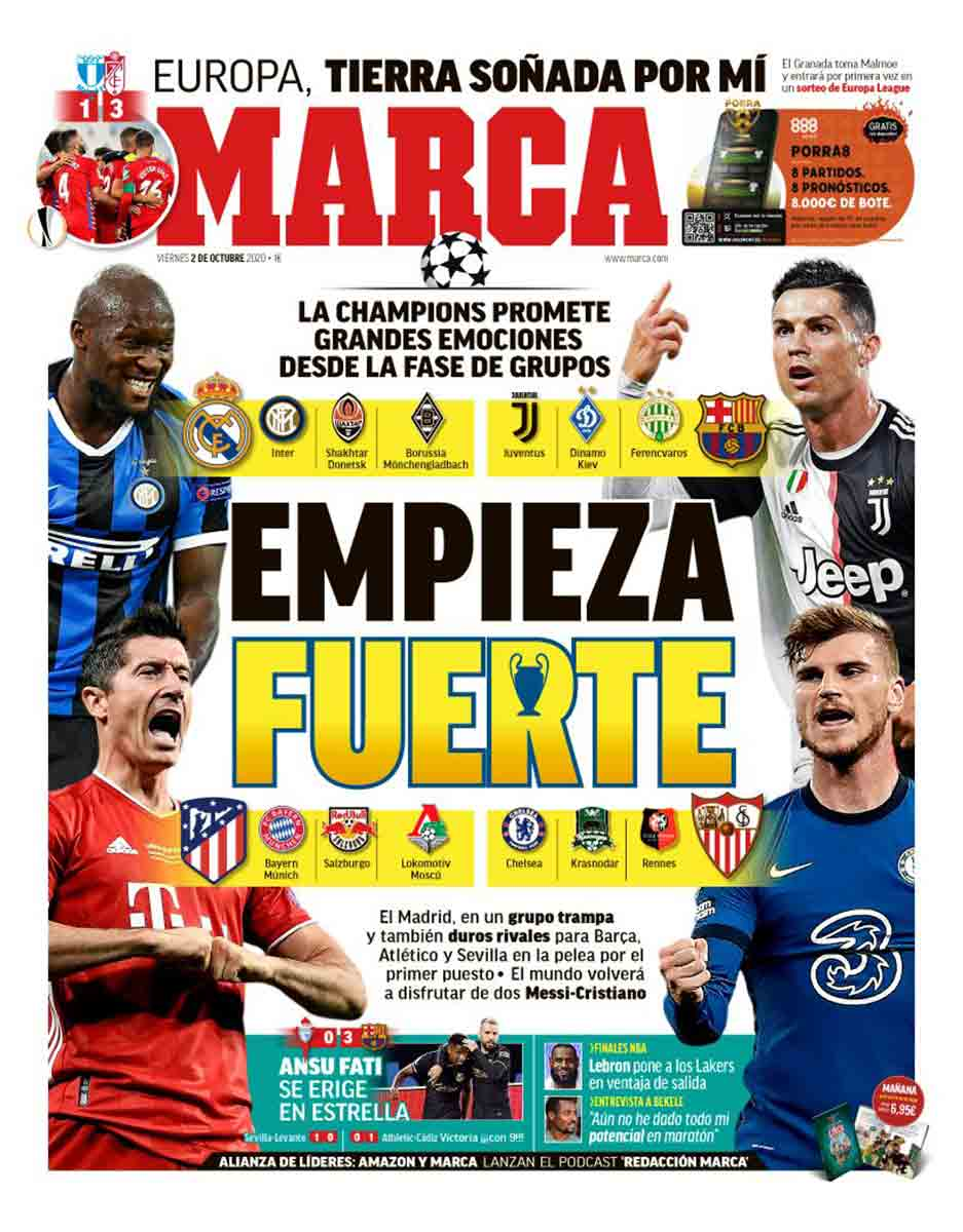 Portada Marca sorteo Champions