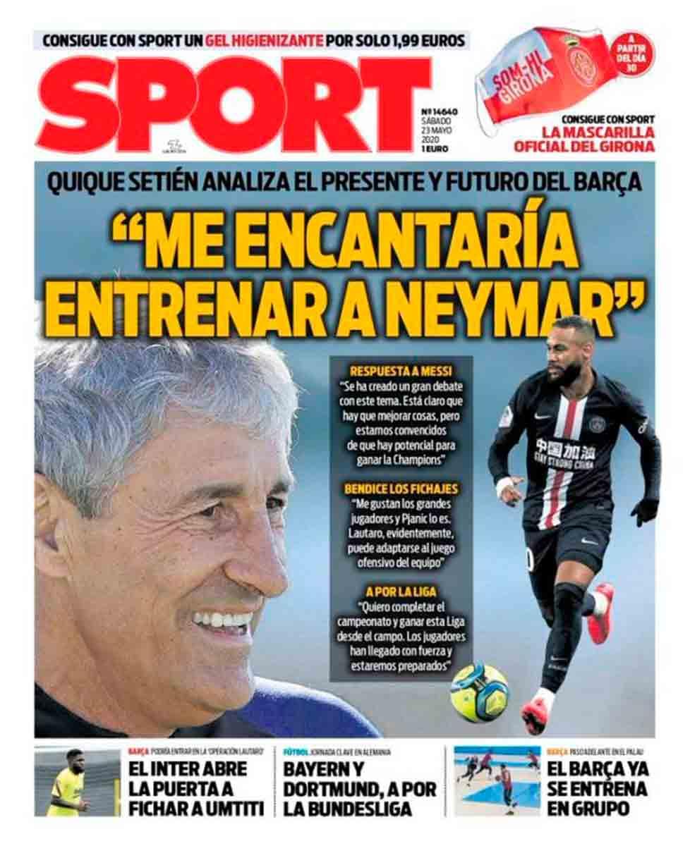 Setién quiere entrenar a Neymar