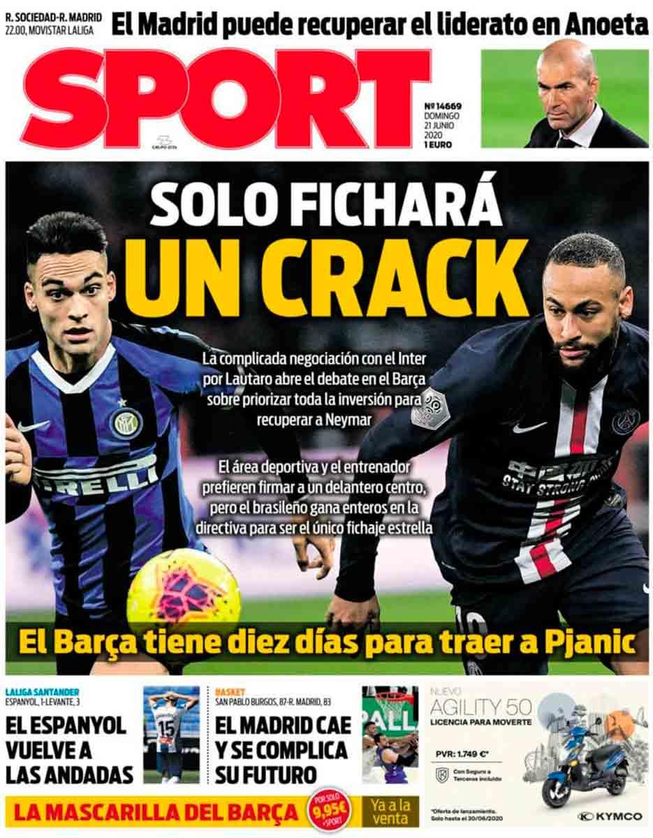 Portada Sport Lautaro Neymar