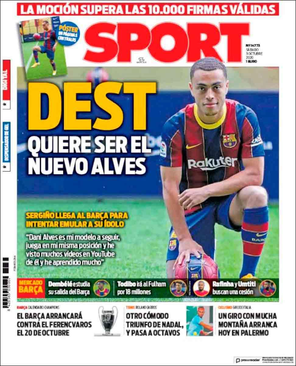 Portada Sport Dest Alves