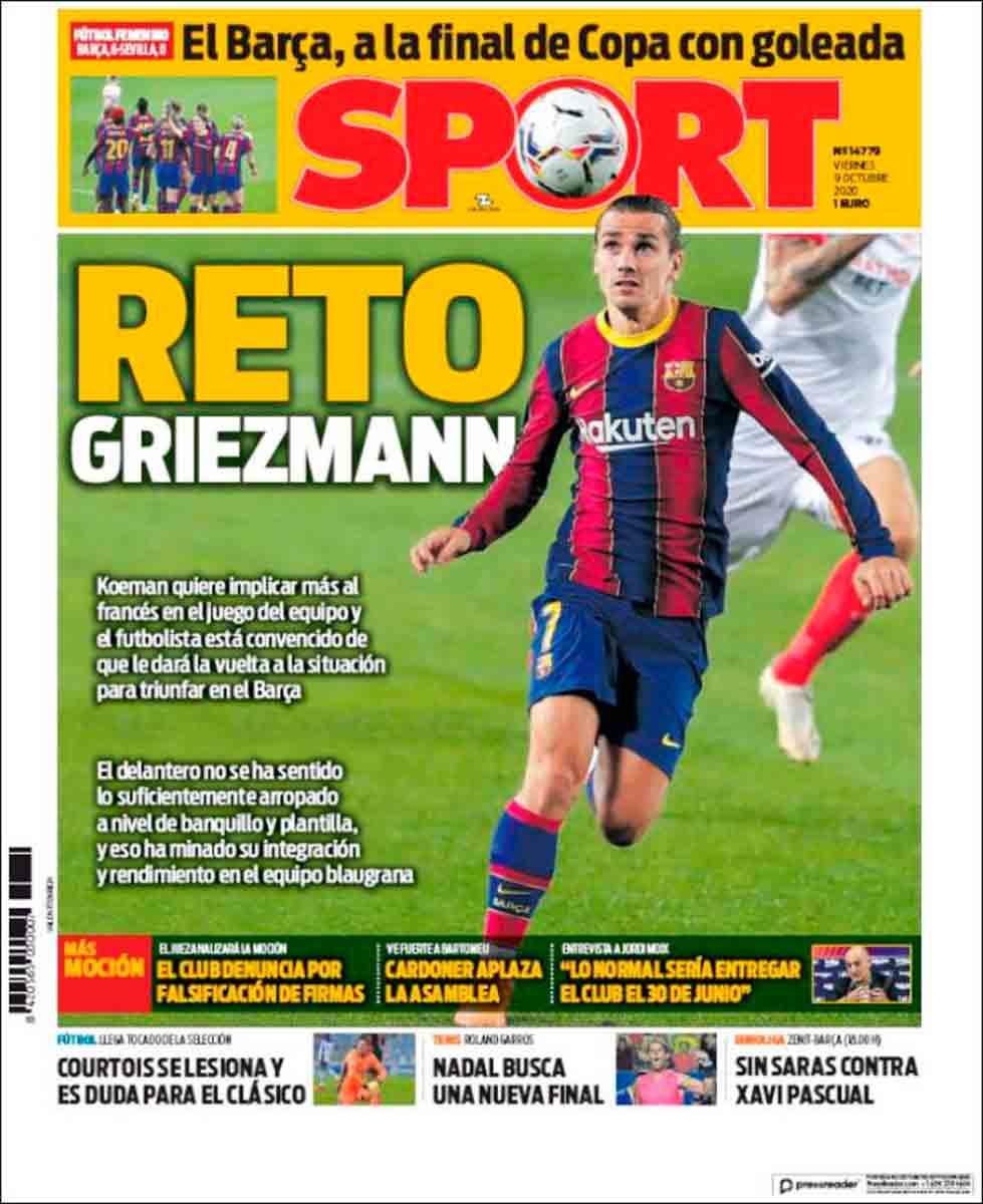 Portada Sport Griezmann