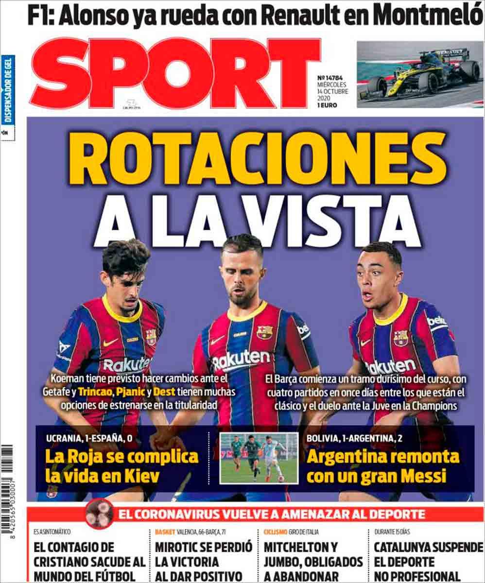 Portada Sport rotaciones