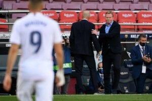 Zidane llegó tocado, tocado sale Koeman