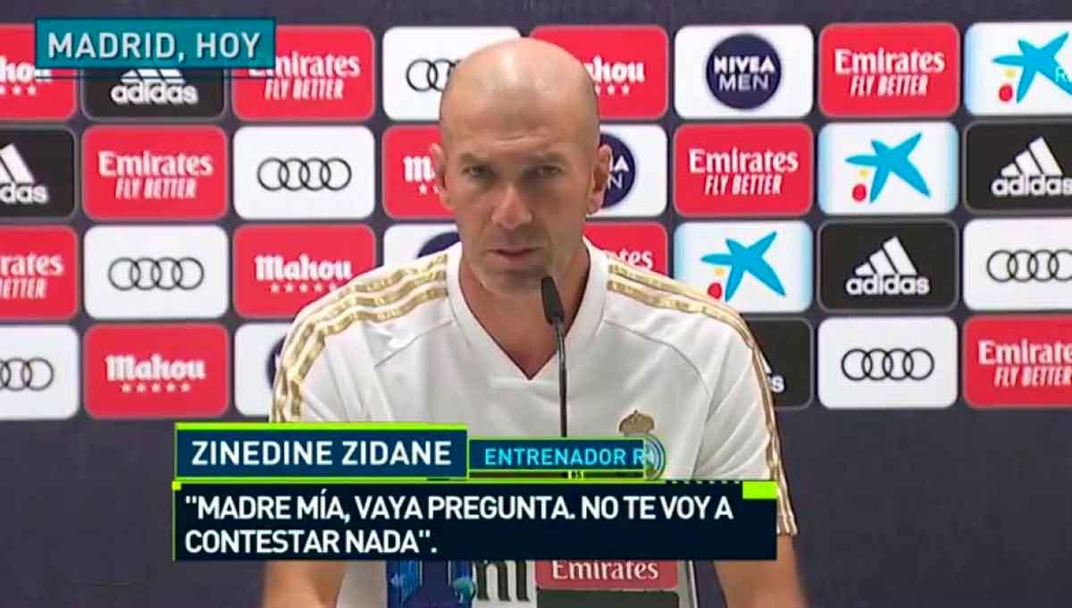 Zidane no responde a periodista