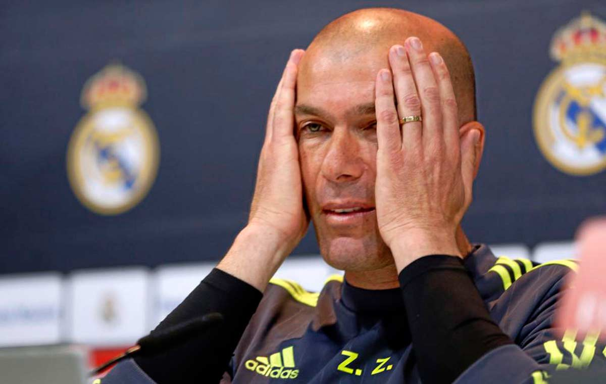 Zidane enfado rueda de prensa