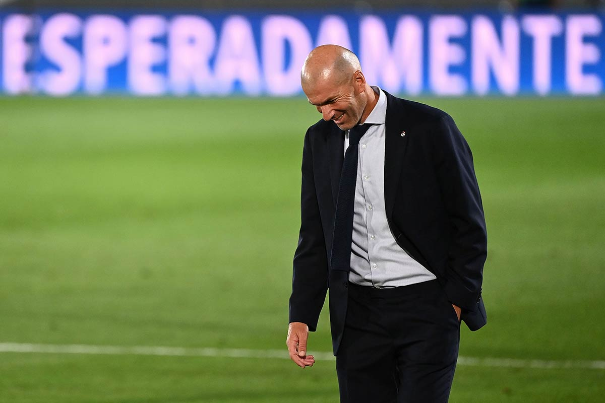 Zidane sonriente