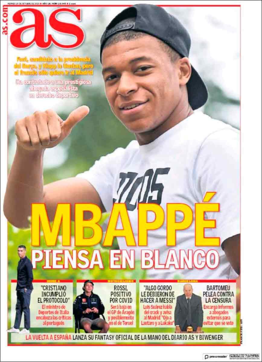 Portada AS Mbappé Real Madrid