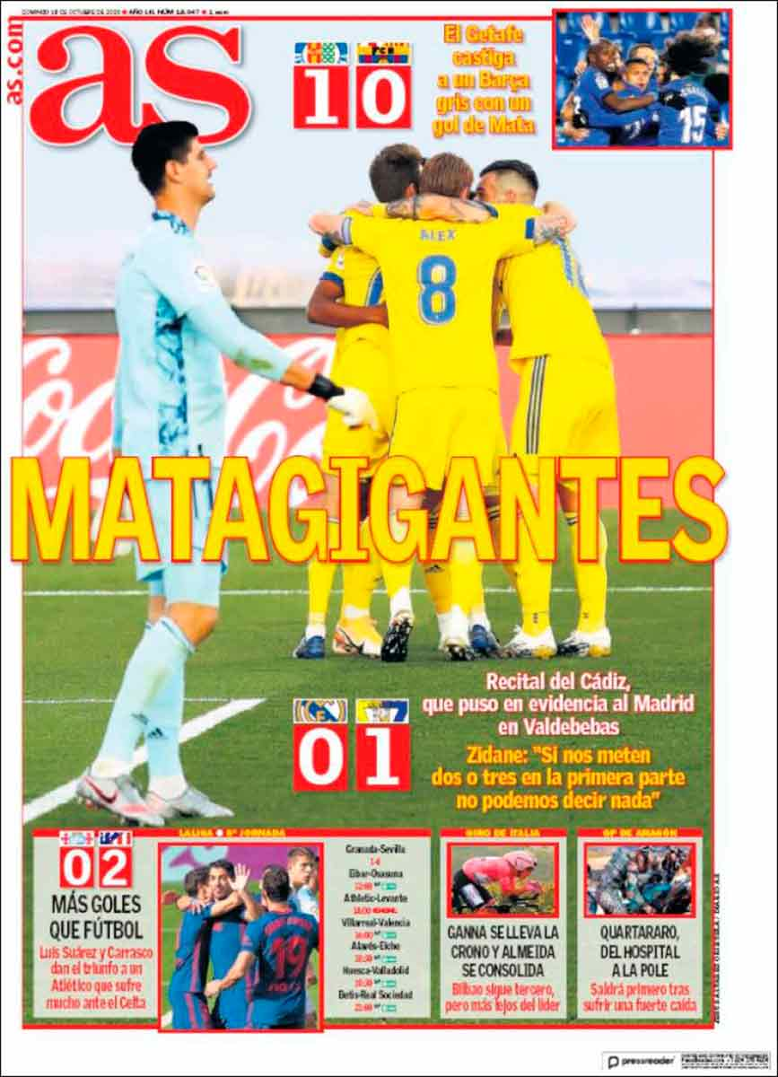Portada As Courtois Cádiz