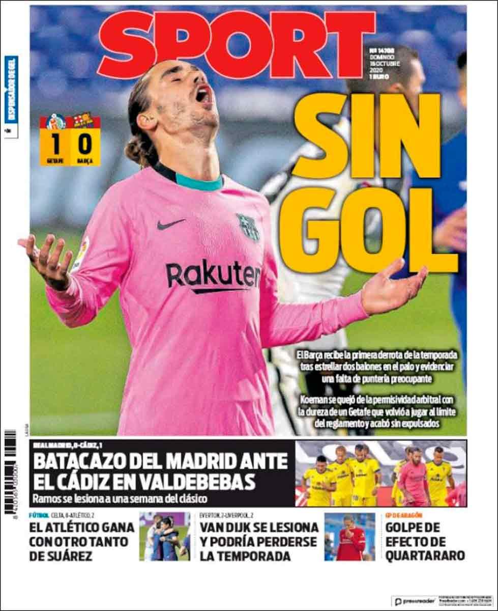 Portada Sport Griezmann sin gol