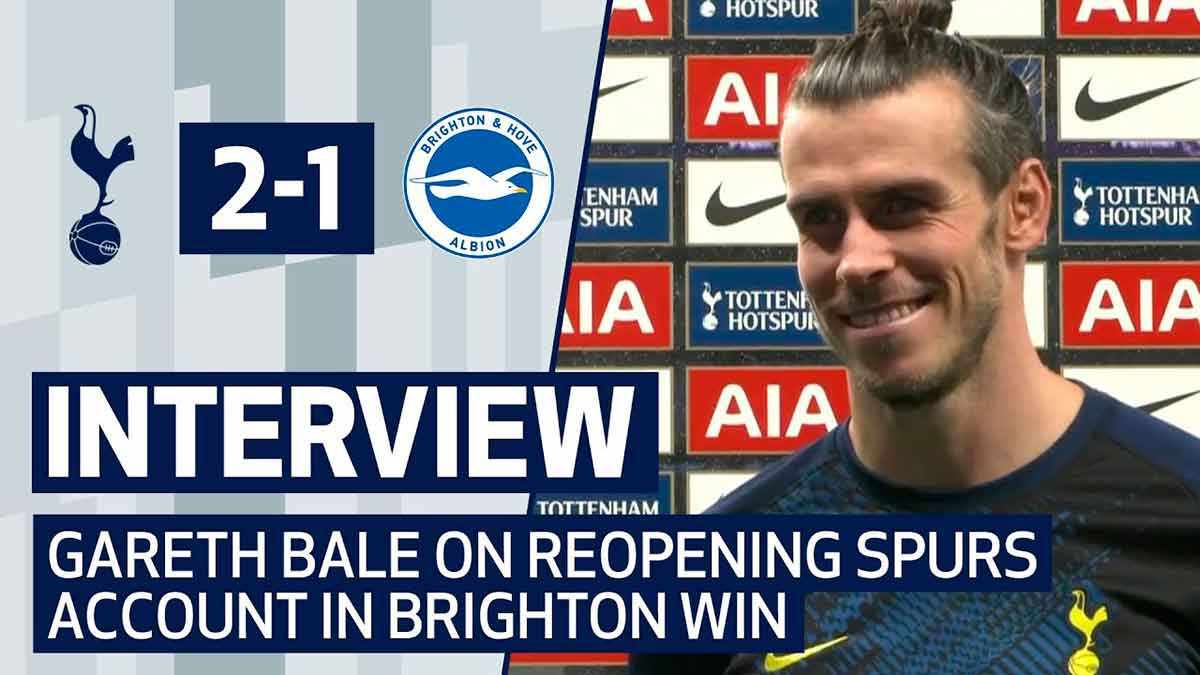 Interview Gareth Bale Tottenham Brighton