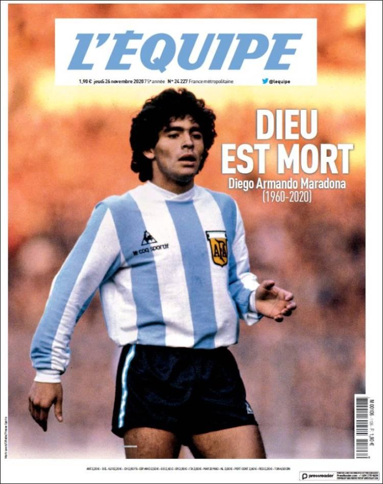L´Equipe Maradona