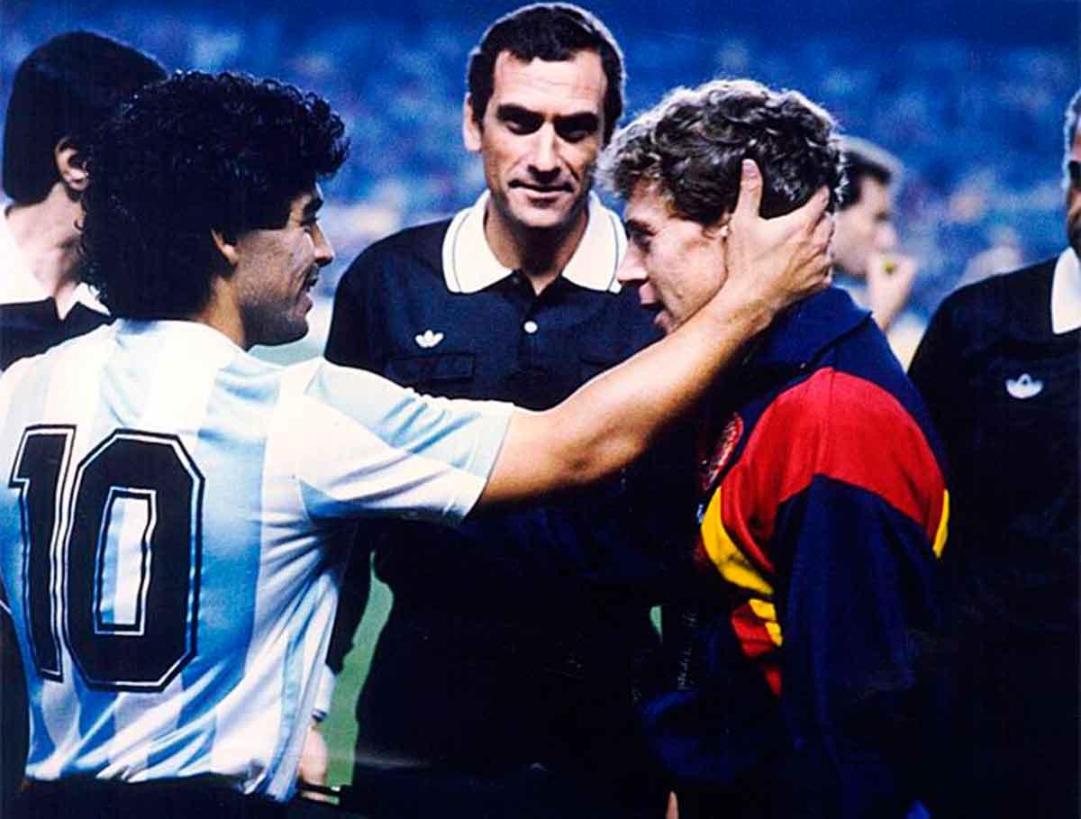 Maradona con Butragueño