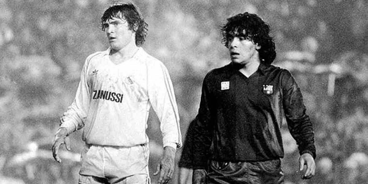 Maradona con Camacho