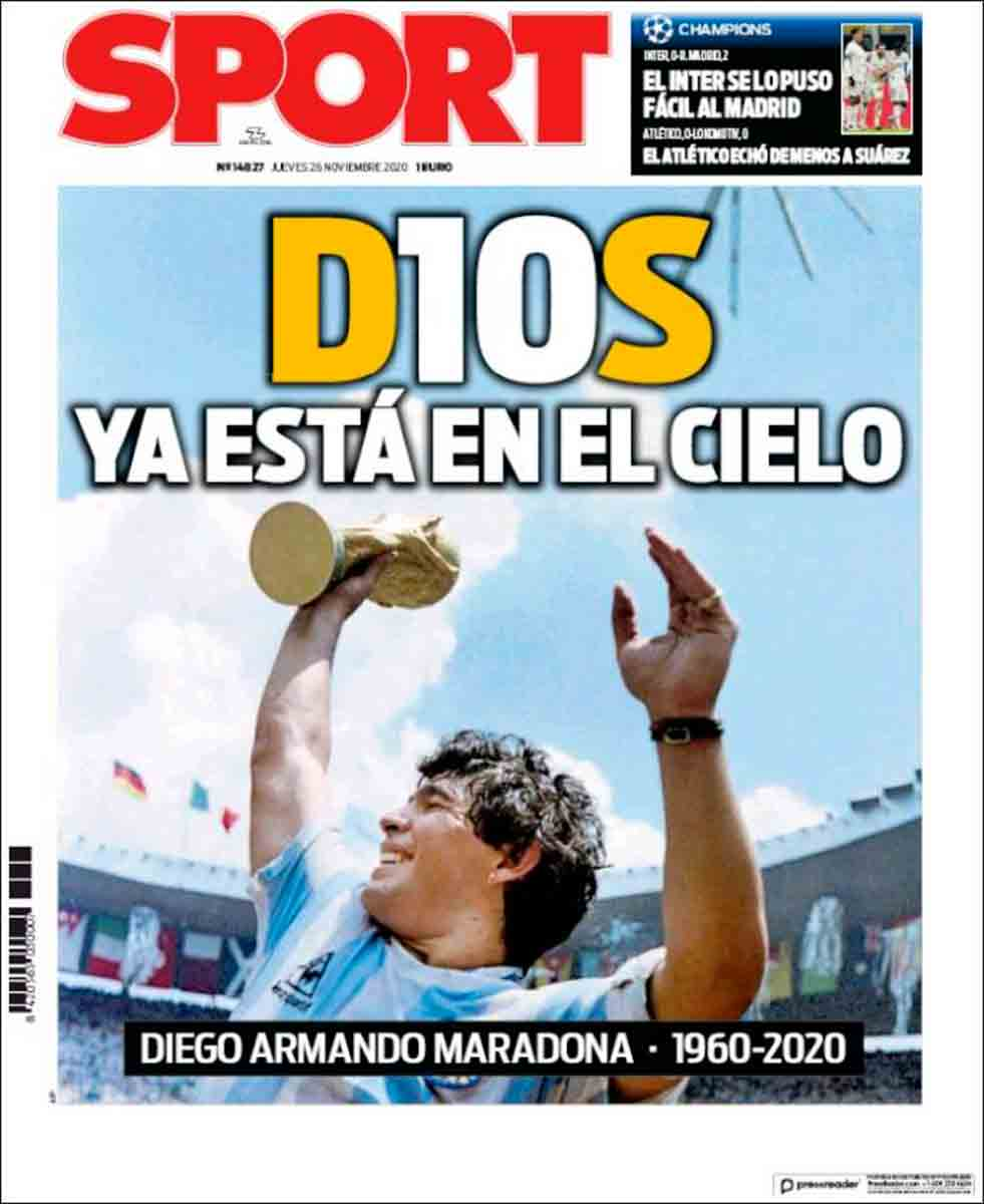 Portada Sport Maradona