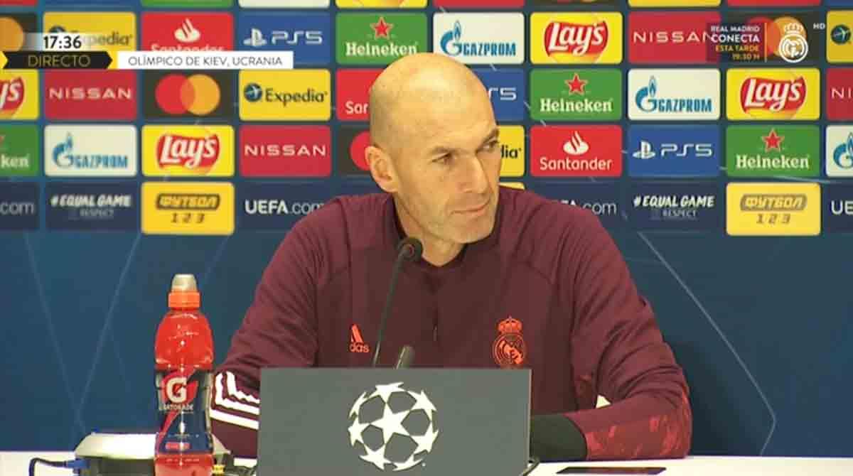 Zidane rueda de prensa Shaktar