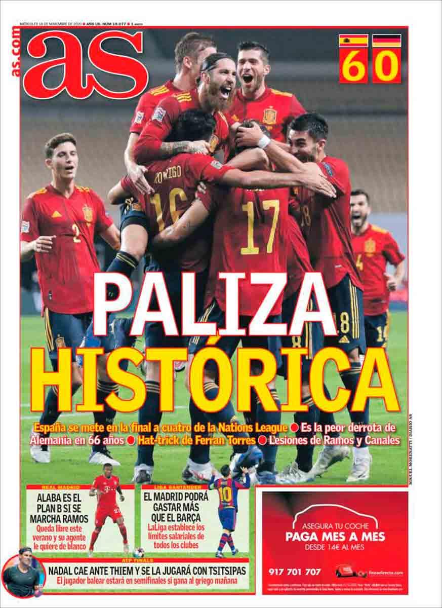 Portada AS España 6-0