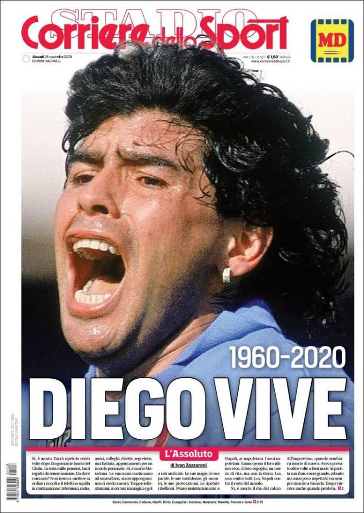 Portada Corriere dello Sport Maradona