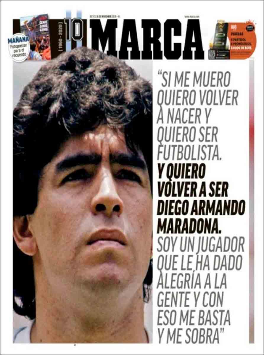 Portada Marca Maradona
