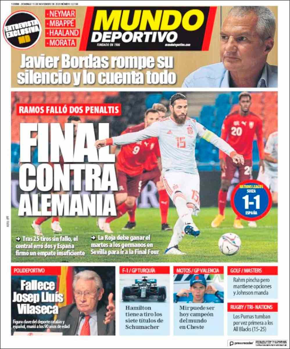 Portada Mundo Deportivo Sergio Ramos