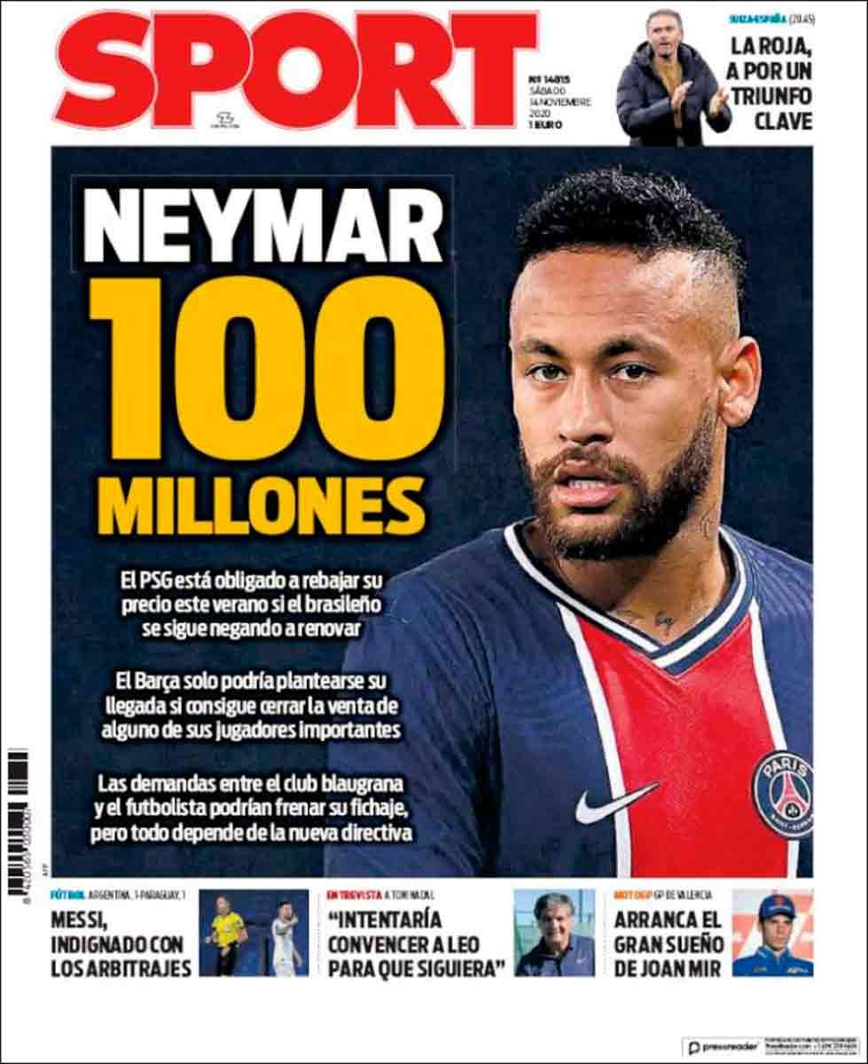 Portada Sport Neymar