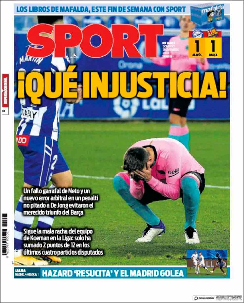 Portada Sport Piqué Injusticia