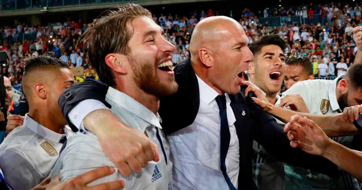 Zidane celebración