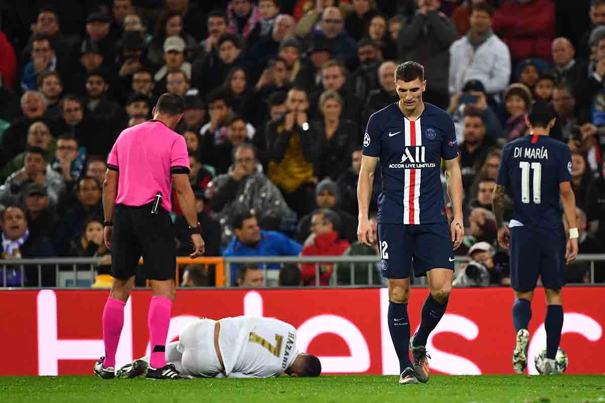 Hazard lesión PSG