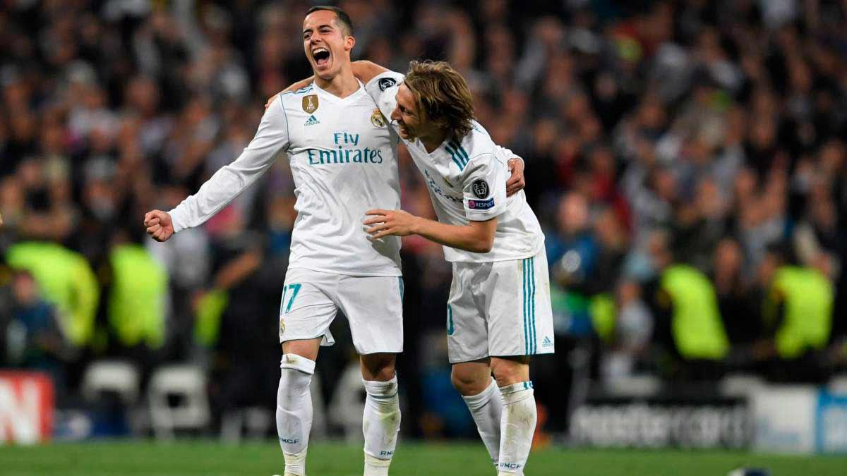 Luka Modric y Lukas Vázquez