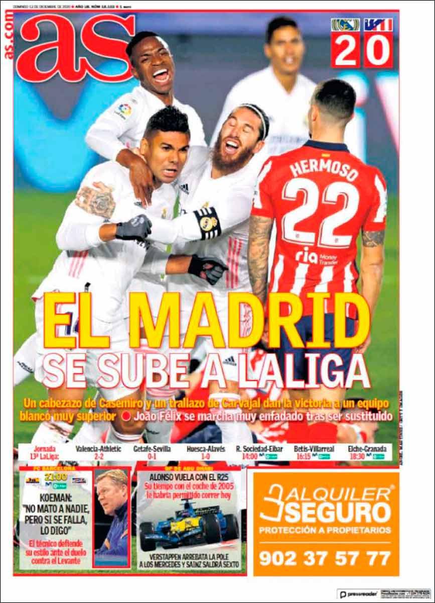 Portada As El Madrid se sube a la Liga