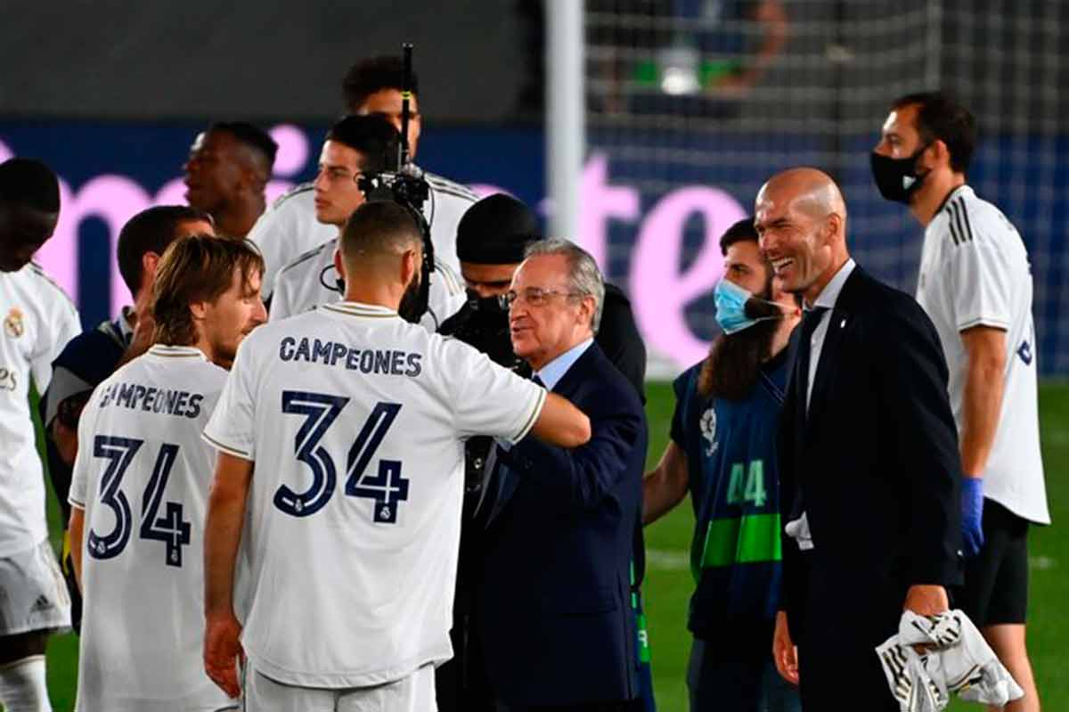 celebración Liga Zidane y Florentino