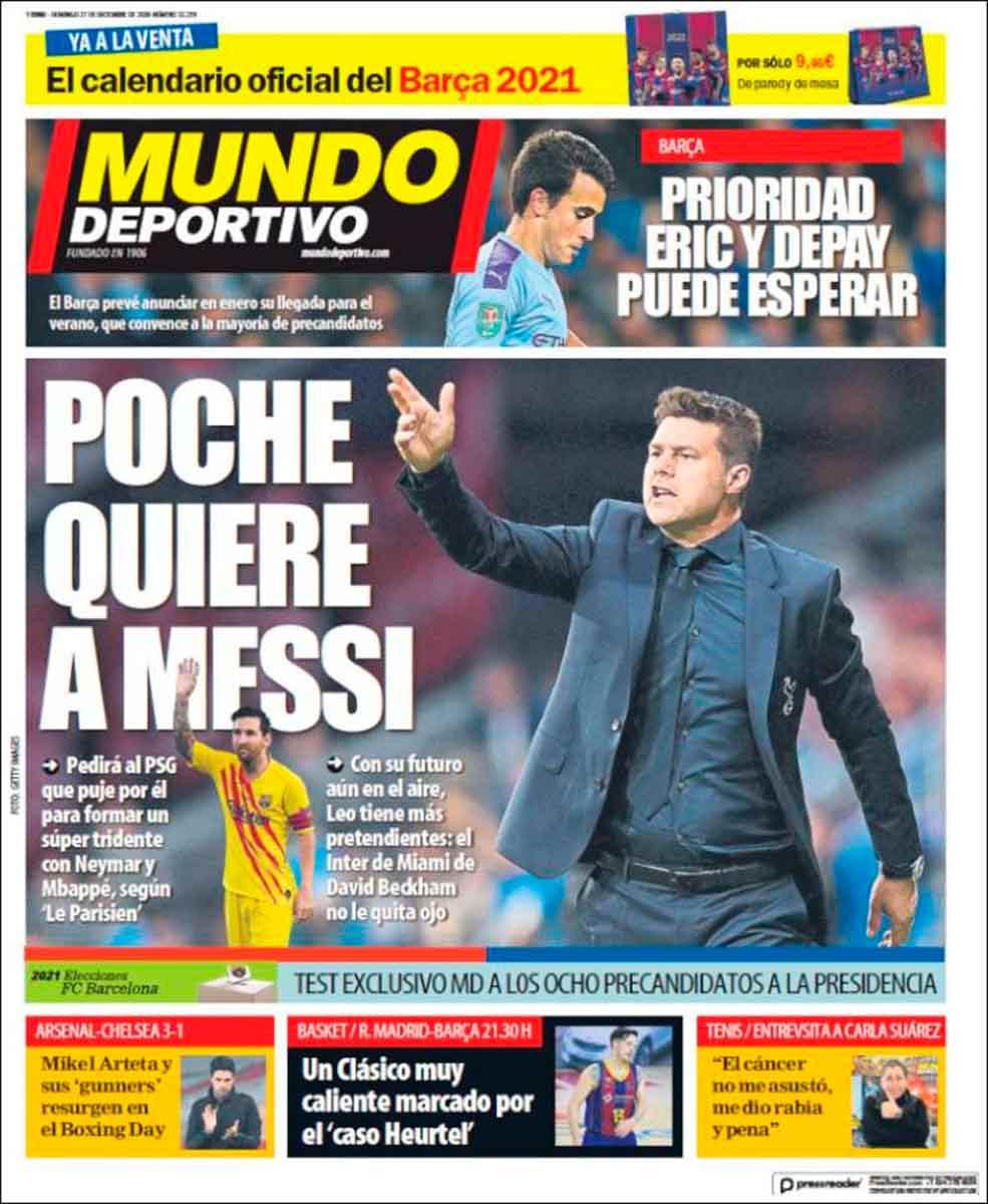 Portada Mundo Deportivo Pochettino Messi