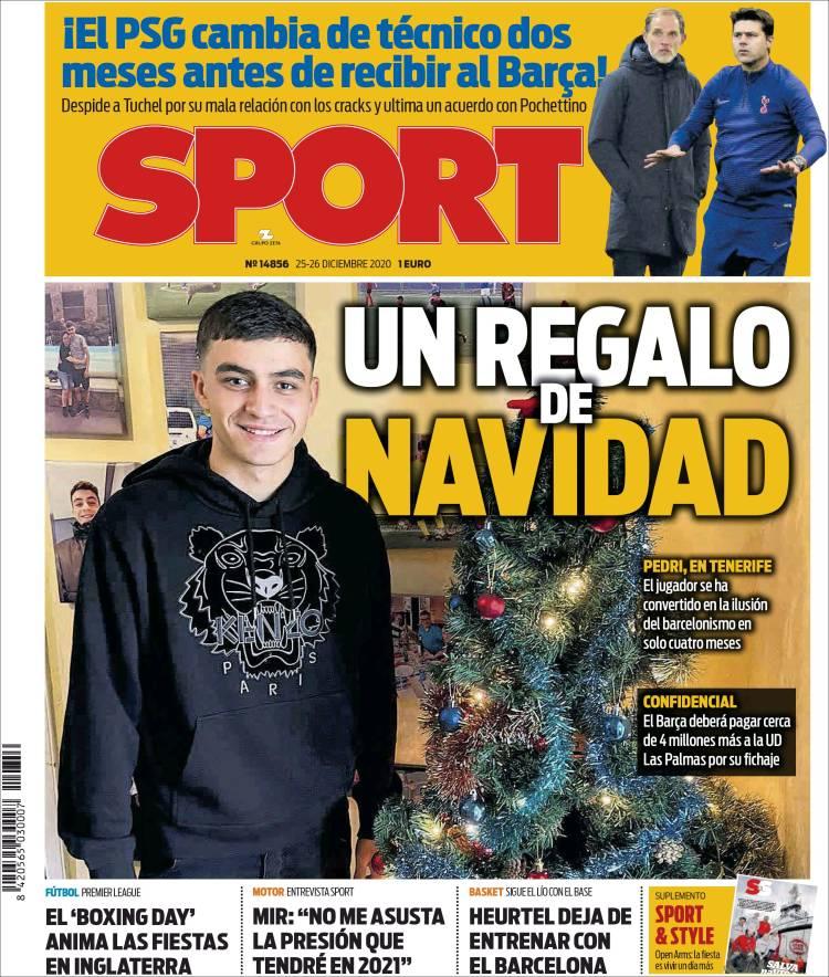 sport pedri navidad
