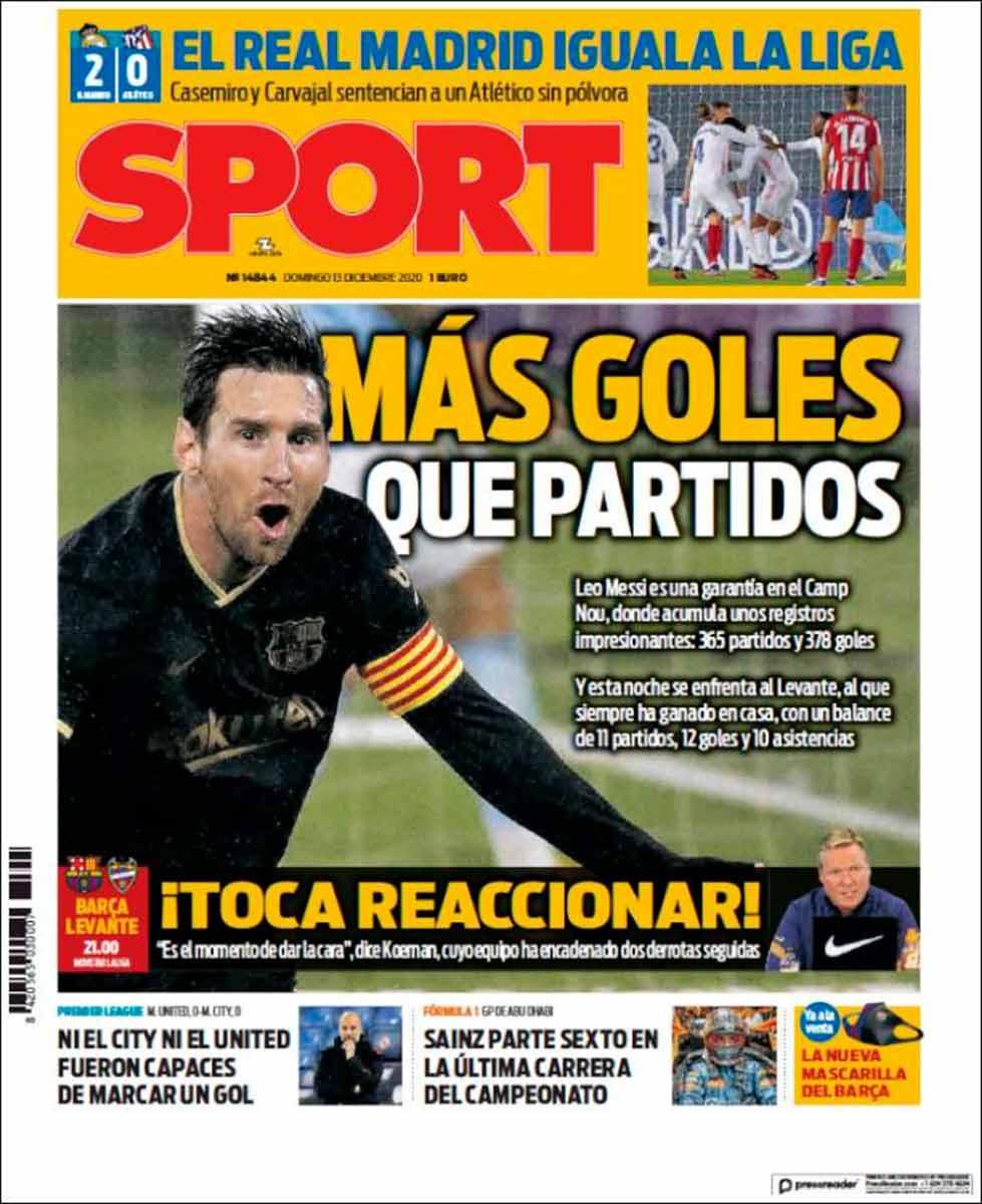 Portada Sport Goles Messi