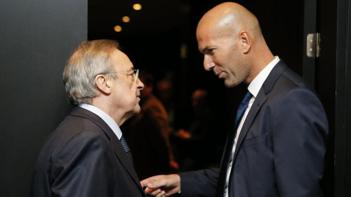 Florentino Pérez y Zinedine Zidane.