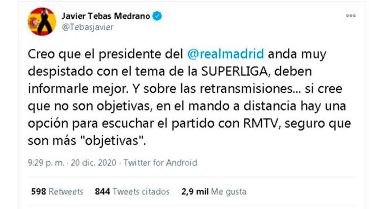 Tuit Javier Tebas