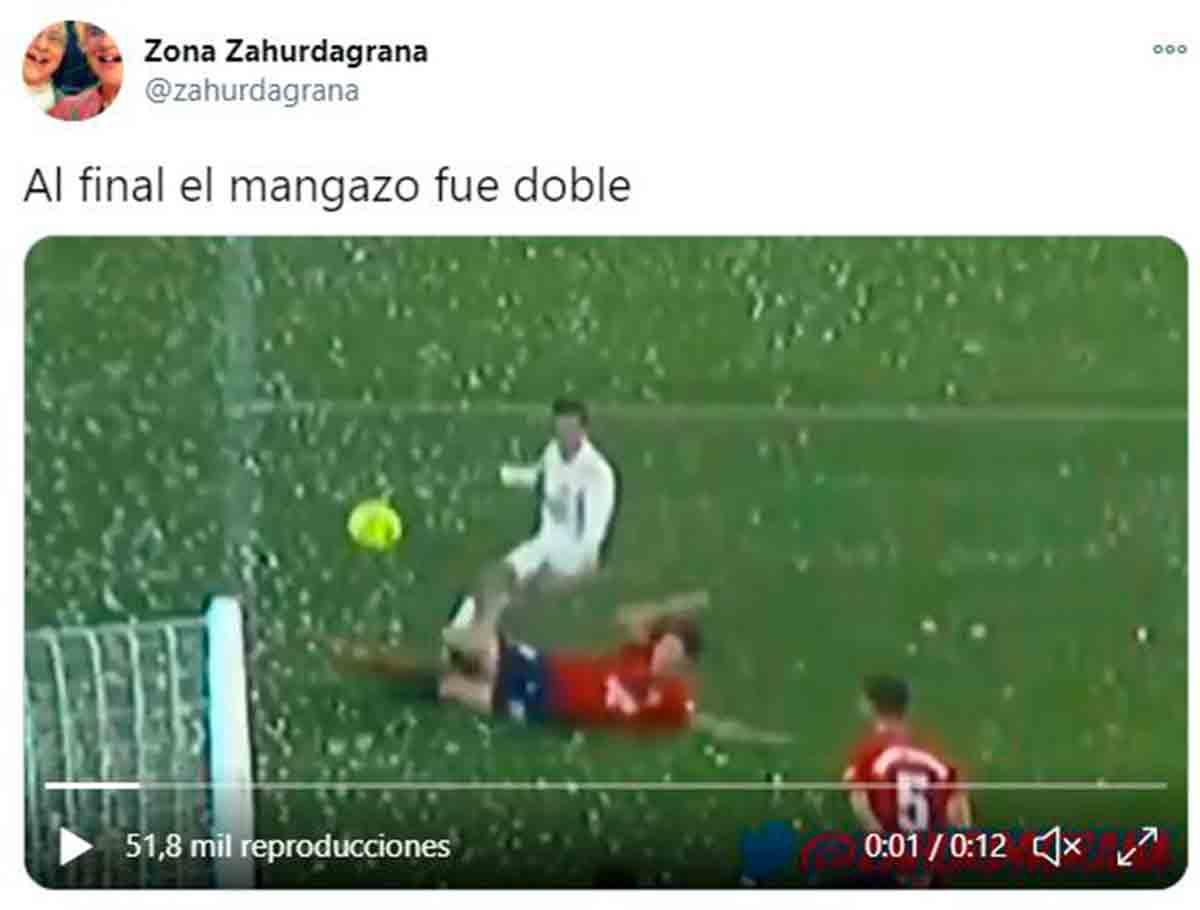 Penalti a Lucas Vázquez