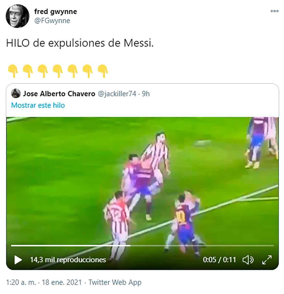 Expulsión Messi 1