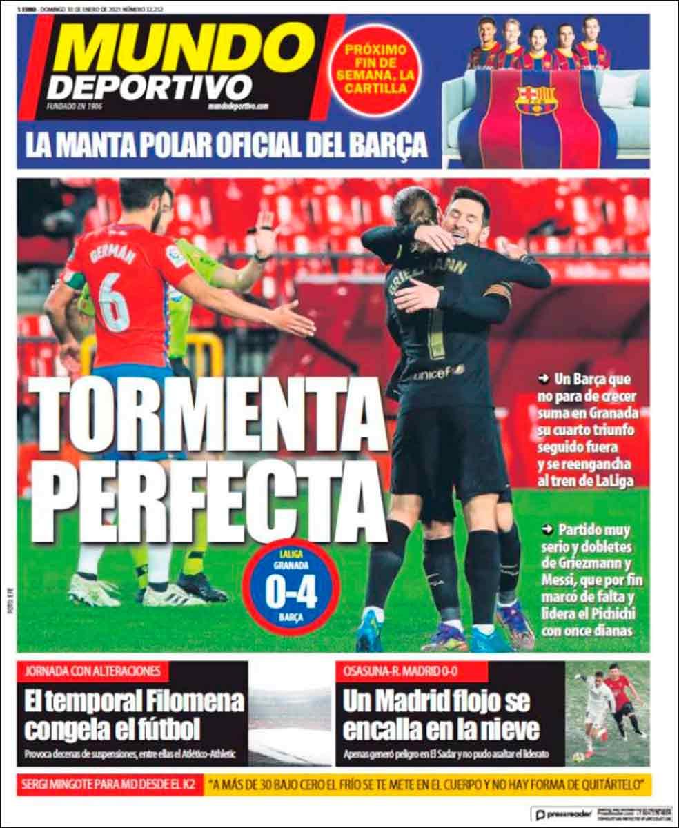 Portada Mundo Deportivo Tormenta Perfecta