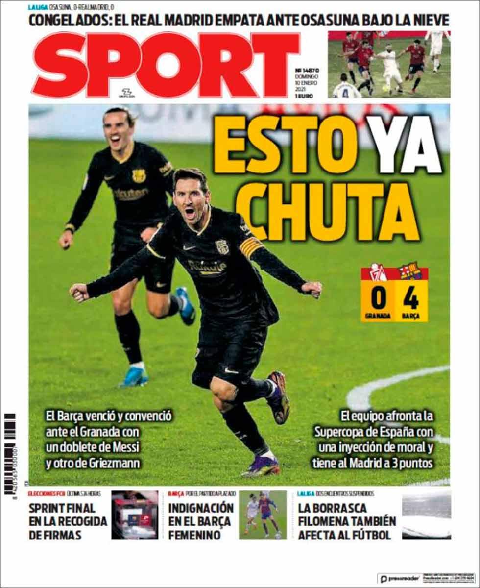 Portada Sport Esto ya chuta