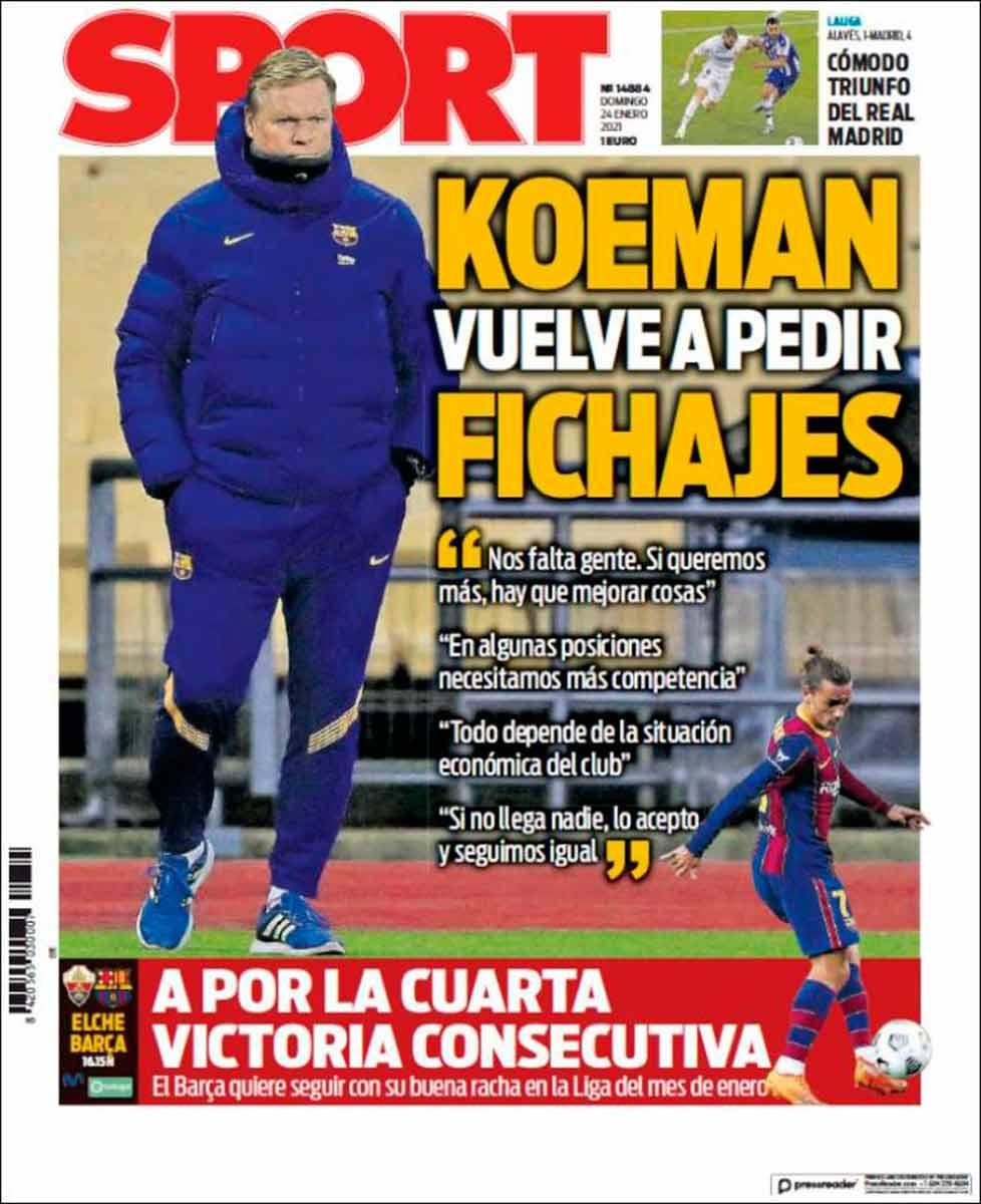 Portada Sport Koeman fichajes
