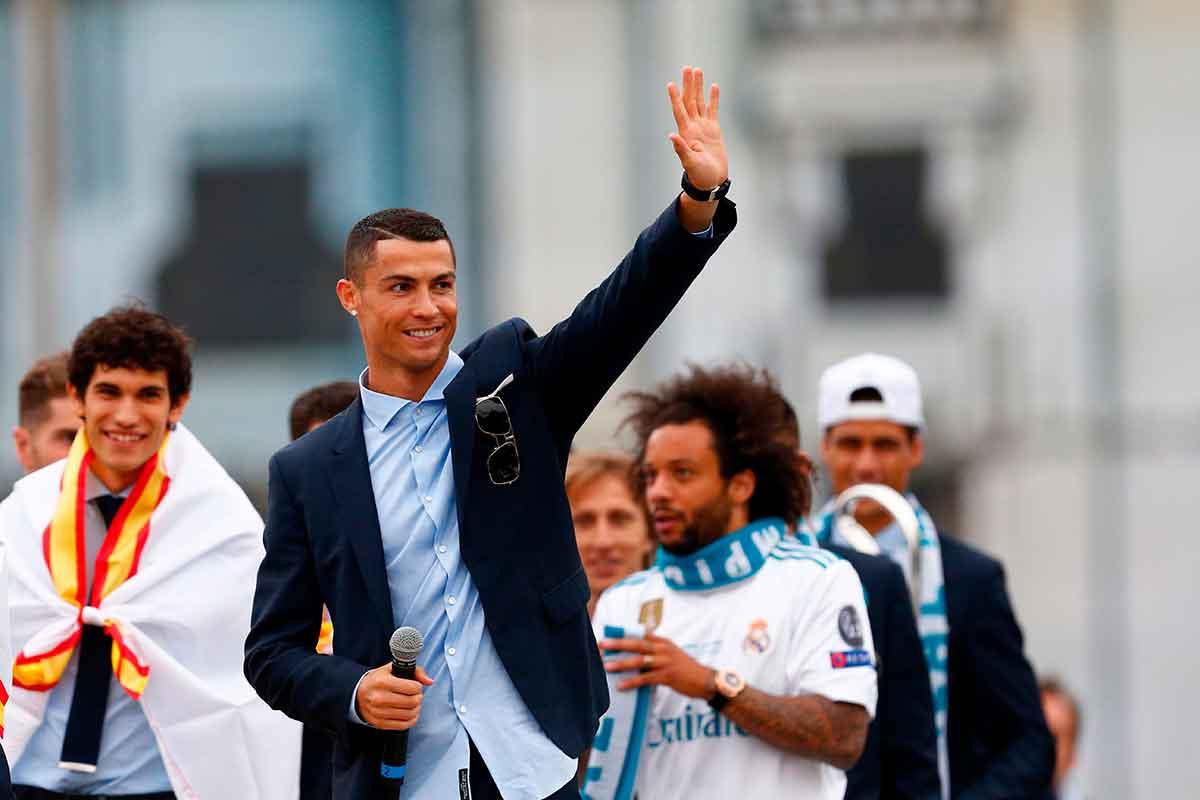 Cristiano Ronaldo Cibeles Real Madrid