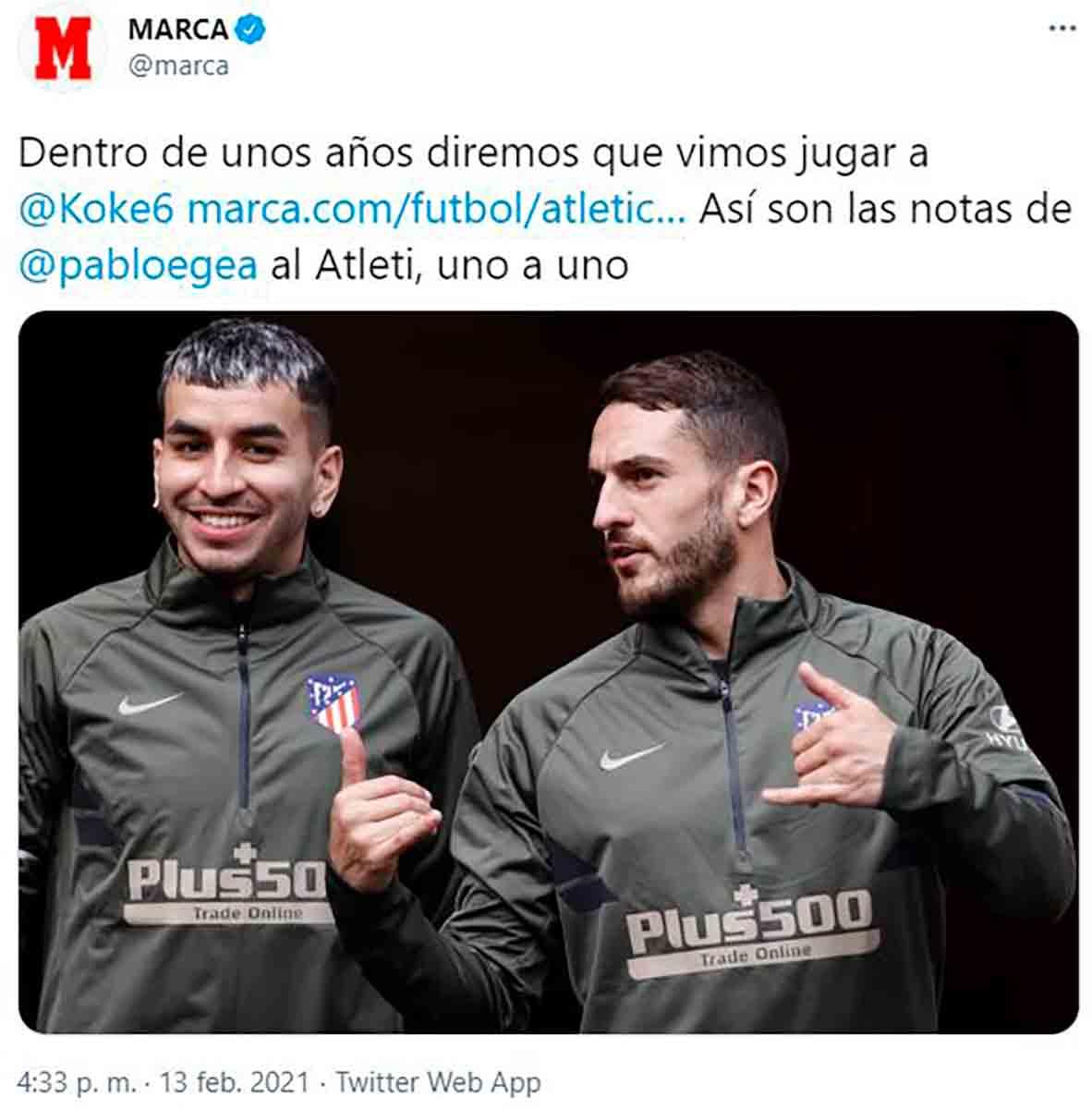 Marca Koke Correa amor