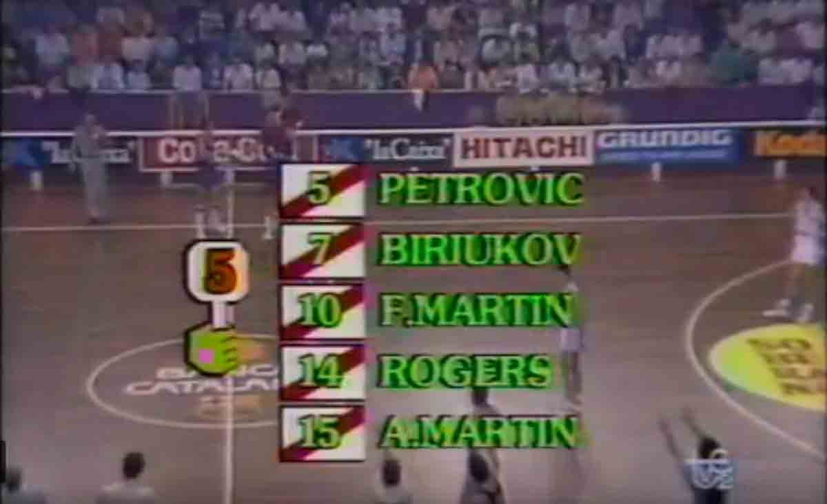 Final Liga baloncesto 1988 Real Madrid Barça Neyro
