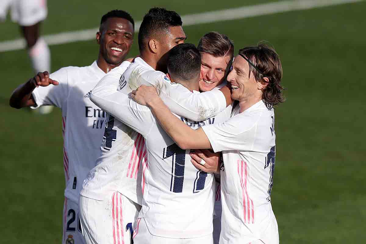 Celebración gol Real Madrid Valencia